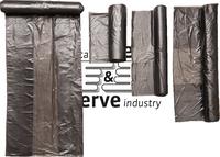 care&serve-Abfall-Säcke-Müll-Beutel, HDPE Abfallbeutel, 6 l, Seitenfalte, Rolle á 50 Stück, VE: 2000 Stück, grau