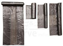 care&serve-Abfall-Säcke-Müll-Beutel, HDPE Abfallbeutel, 30 l, Seitenfalte, Rolle á 50 Stück, VE: 2000 Stück, grau