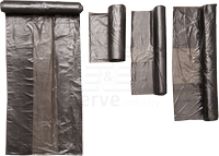 care&serve-Abfall-Säcke-Müll-Beutel, HDPE Abfallbeutel, 30 l, star sealed, Rolle á 50 Stück, VE: 2000 Stück, grau