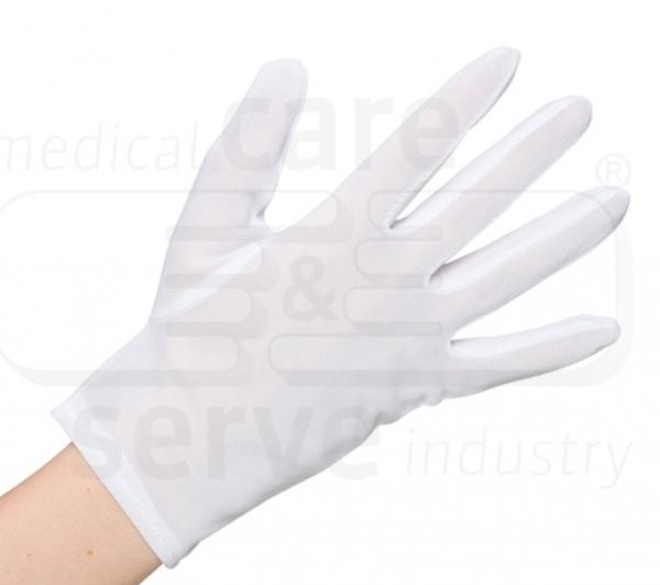 WIROS-Baumwoll Nylon-Handschuhe, feinstrick, efficient plus, Polybeutel, Pkg. á 12 Paar, VE: 600 Paar, weiß