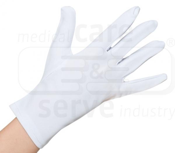 WIROS-Baumwoll Nylon-Handschuhe, feinstrick, efficient, Polybeutel, Pkg. á 12 Paar, VE: 600 Paar, weiß