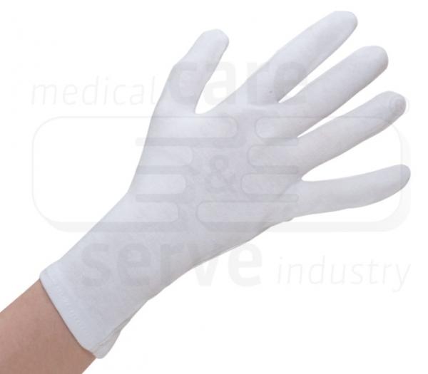 WIROS-Baumwoll Handschuhe, feinstrick, premium, Polybeutel, Pkg. á 12 Paar, VE: 600 Paar, weiß