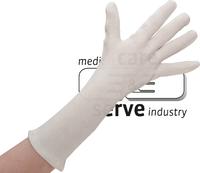 Baumwoll-Arbeits-Handschuhe,, Feinstrick, premium, extra lang, Polybeutel, Pkg. á 12 Paar, VE: 600 Paar, weiß