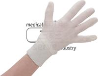 Baumwoll-Arbeits-Handschuhe, Strickbündchen, mittelstrick, Polybeutel, Pkg. á 12 Paar, VE: 600 Paar, beige