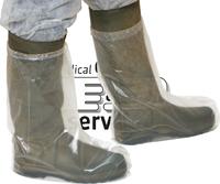care&serve Einweg-PE Stiefel-Überzüge, Einmal-Stiefel, gehämmert, Polybeutel, 0,06 mm, 47 x  38 cm, Pkg. á 50 Stück, VE: 500 Stü