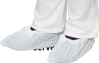 care&serve Einweg-CPE Überschuhe, Einmal-Schuhe, gehämmert, laminiert, extra rutschhemmend, Polybeutel, 0,03 mm, 17 x 42 cm, Pkg