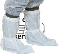 care&serve Einweg-CPE Stiefel-Überzüge, Einmal-Stiefel, gehämmert, PE Bänder, Polybeutel, 0,16 mm, 53 x  40 cm, Pkg. á 50 Stück,