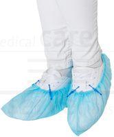 WIROS-Jobwear, Einweg-Vlies-Überschuhe, Einmalschuhe, für quickfit compact Spender, 15 x 50 cm, Pkg á 80 Stück, VE = 2000 Stück, blau