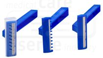 care&serve-Hygiene, 1 Klinge, teflonbeschichtet, Schubbox, Box. á 100 Stück, VE: 2000 Stück, blau