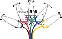 care&serve-Hygiene, Stethoskop, Flachkopf, einfaches Bruststück, Membran Ø: 4,5 cm, weiche Ohroliven, VE: 100 Stück, rot