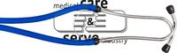 care&serve-Hygiene, Stethoskop, Rappaport, Doppelschlauch, kombiniertes Doppelkopf Membrane Bruststück, VE: 50 Stück, blau
