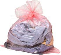 care&serve-Hygiene, Einweg-Wäschesack, professional, wasserlöslich ab 45 Grad, Verschlussband, 60 l, Polybeutel, Pkg. á 25 Stück, VE: 200 Stück, rot