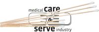 care&serve-Hygiene, Watte-Stäbchen, Hartholz, kleiner Wattekopf, Polybeutel, Pkg. á 100 Stück, VE: 24000 Stück, natur