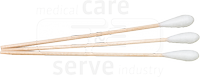 care&serve-Hygiene, Watte-Stäbchen, Hartholz, großer Wattekopf, Polybeutel, Pkg. á 50 Stück, VE: 5000 Stück, natur