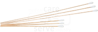 care&serve-Hygiene, Watte-Stäbchen, Hartholz, kleiner Wattekopf, Polybeutel, Pkg. á 100 Stück, VE: 10000 Stück, natur