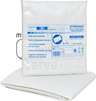 care&serve-Hygiene, care&serve Vlies Decken, für Notfälle + Rettungseinsätze, Polybeutel, 110 x 200 cm, VE: 50 Stück, weiß