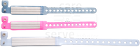 care&serve-Hygiene, Patienten-Namens-Bänder, einmalig fest verstellbarer Druckknopf, größenverstellbar, Spenderbox, Pkg. á 250 Stück, VE: