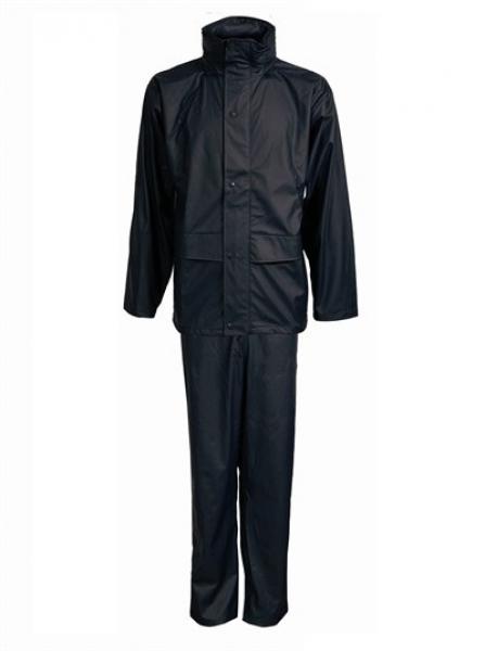 ELKA-Regen-Nässe-Wetter-Schutz-Set, Anzug, DRY ZONE, 190g/m², schwarz