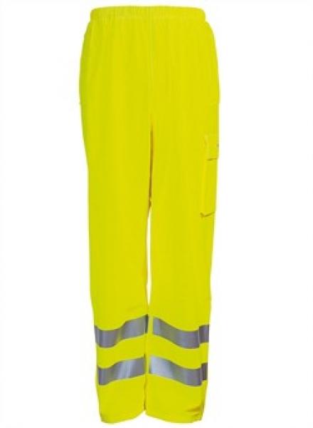 ELKA Warn-Schutz-Bund-Hose, Arbeits-Sicherheits-Berufs-Hose,  Dry Zone EN 471, warngelb