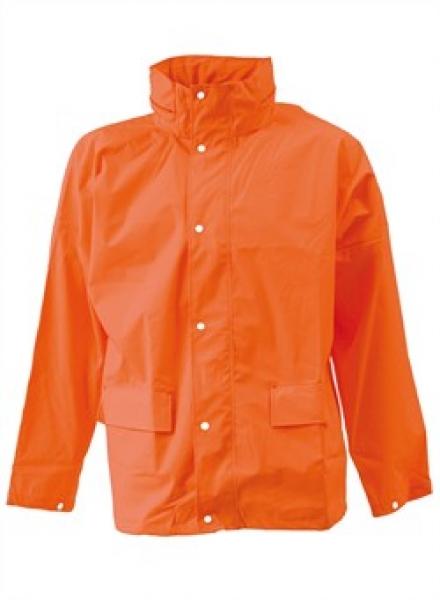 ELKA Arbeits-Berufs-Regen-Nässe-Wetter-Schutz-Jacke, Dry Zone, orange