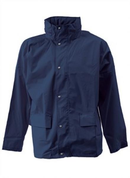 ELKA Arbeits-Berufs-Regen-Nässe-Wetter-Schutz-Jacke, Dry Zone, marine
