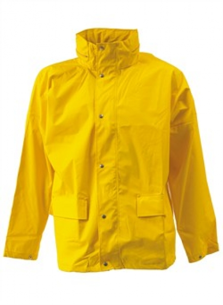 ELKA-Arbeits-Berufs-Regen-Nässe-Wetter-Schutz-Jacke, Dry Zone, gelb