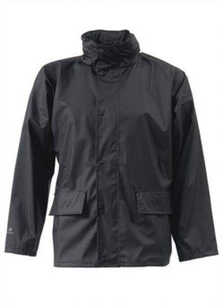 ELKA-Arbeits-Berufs-Regen-Nässe-Wetter-Schutz-Jacke, Dry Zone, schwarz