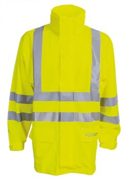 ELKA Warn-Schutz-Arbeits-Berufs-Jacke, Dry Zone EN 471, warngelb