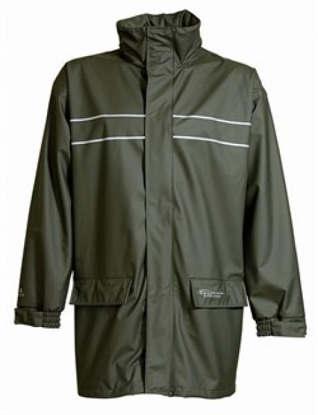 ELKA-Arbeits-Berufs-Regen-Nässe-Wetter-Schutz-Jacke, Dry Zone D-Lux, oliv
