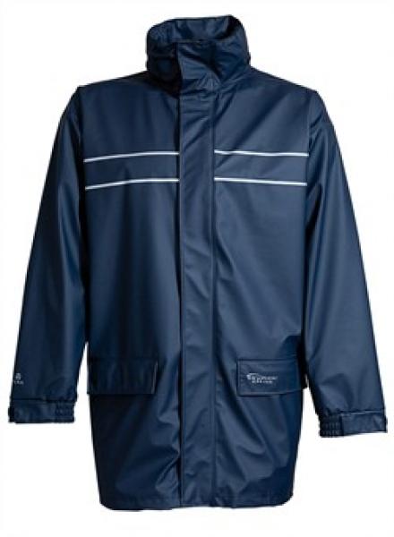 ELKA-Arbeits-Berufs-Regen-Nässe-Wetter-Schutz-Jacke, Dry Zone D-Lux, marine