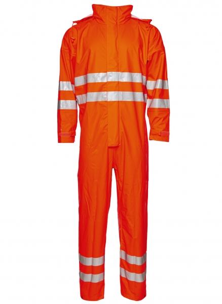 ELKA-Regen-Nässe-Wetter-Schutz-Schutz-Anzug, EN 471, DRY ZONE, 170g/m², warnorange