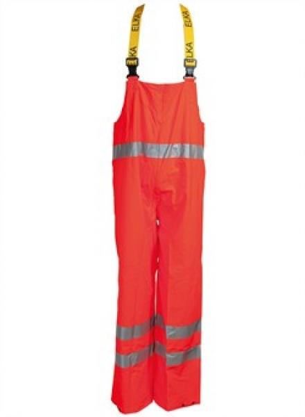 ELKA Warn-Schutz-Arbeits-Berufs-Latz-Hose Dry Zone EN 471, warnorange