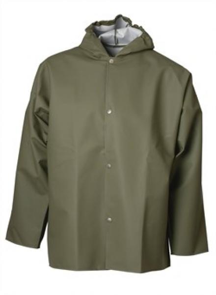 ELKA Regen-Nässe-Wetter-Schutz-Arbeits-Berufs-Jacke, PVC Light, oliv