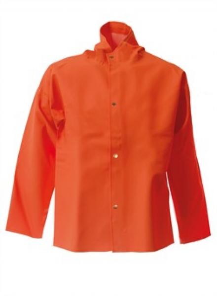 ELKA Regen-Nässe-Wetter-Schutz-Arbeits-Berufs-Jacke, PVC Light, orange