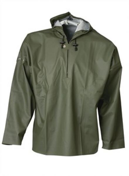 ELKA Regen-Nässe-Wetter-Schutz-Arbeits-Berufs-Jacke, Schlupf-Jacke, PVC Light, oliv
