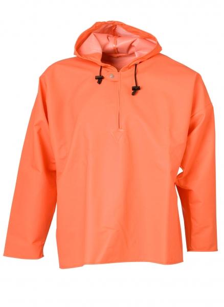 ELKA Regen-Nässe-Wetter-Schutz-Arbeits-Berufs-Jacke, Schlupf-Jacke, PVC Light, orange