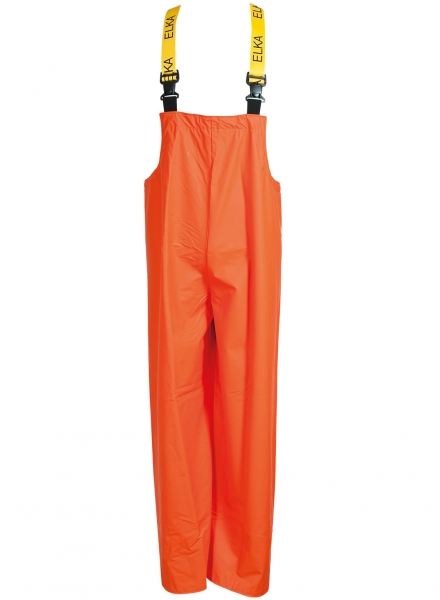ELKA -Regen-Nässe-Wetter-Schutz, Arbeits-Berufs-Latzhose, PVC Light, orange