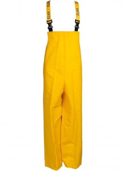 ELKA-Regen-Nässe-Wetter-Schutz, Arbeits-Berufs-Latzhose, PVC Light, gelb