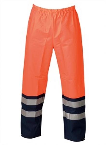 ELKA Warn-Schutz-Bund-Hose, Arbeits-Sicherheits-Berufs-Hose,  Dry Zone EN 471, warnorange/marine