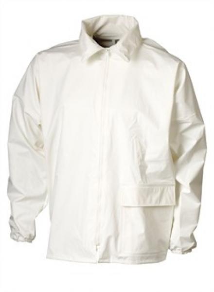 ELKA Regen-Nässe-Wetter-Schutz, Arbeits-Berufs-Jacke, Cleaning, weiß