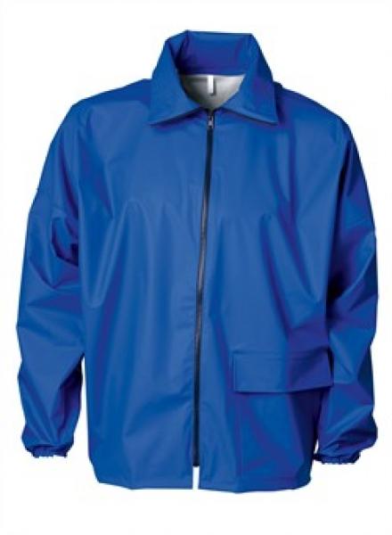 ELKA Regen-Nässe-Wetter-Schutz, Arbeits-Berufs-Jacke, Cleaning, cobalt