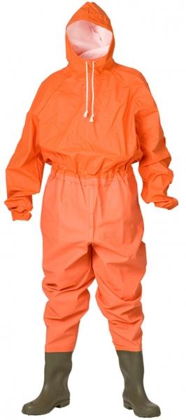 ELKA-Schutzanzug mit Stiefel, 220/600g/m², orange