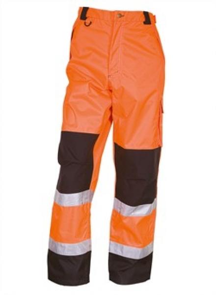 ELKA Warn-Schutz-Bund-Hose, Arbeits-Sicherheits-Berufs-Hose,  Visible Xtreme, warnorange/schwarz