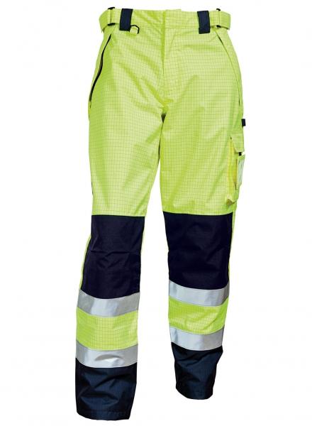 ELKA-Regen-Nässe-Wetter-Schutz-Bundhose, SECURE TECH MULTINORM, warngelb/marine