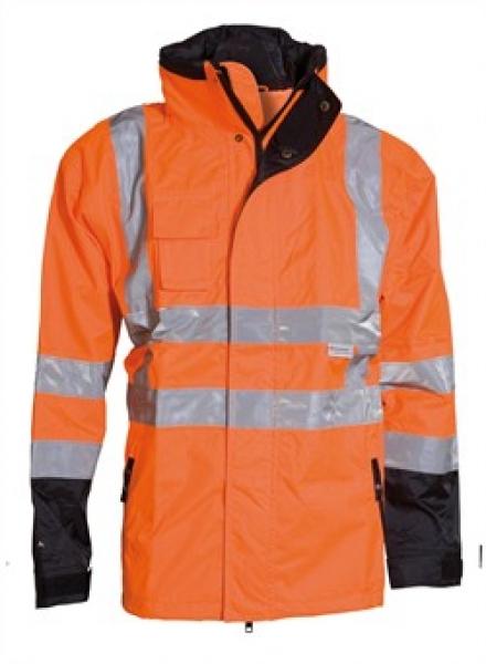ELKA Warn-Schutz-Arbeits-Berufs-Jacke, 2-in-1, Visible Xtreme, warnorange/schwarz