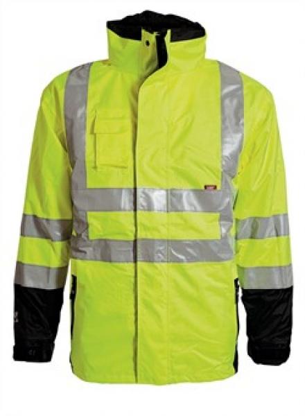 ELKA Warn-Schutz-Arbeits-Berufs-Jacke, 2-in-1, Visible Xtreme, warngelb/schwarz