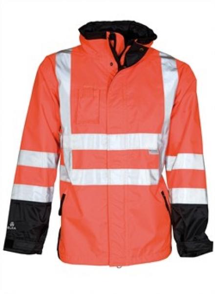 ELKA Warn-Schutz-Arbeits-Berufs-Jacke, 2-in-1, Visible Xtreme, warnrot/schwarz