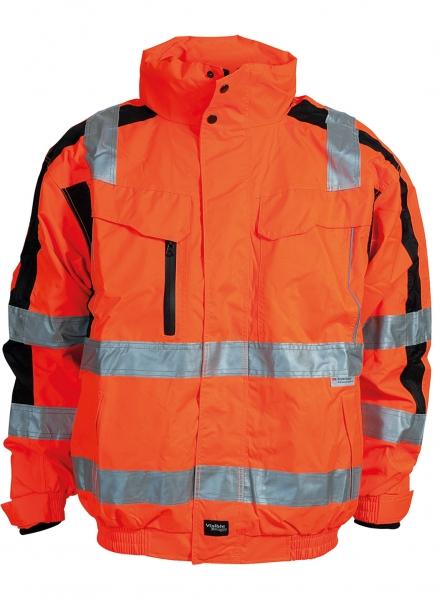 ELKA Warn-Schutz-Piloten-Arbeits-Berufs-Jacke, Visible Xtreme, warnorange/schwarz