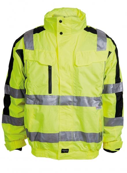 ELKA Warn-Schutz-Piloten-Arbeits-Berufs-Jacke, Visible Xtreme, warngelb/schwarz
