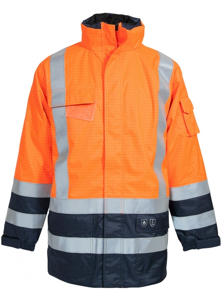 ELKA-Jacke, SECURE TECH MULTINORM, warnorange/marine